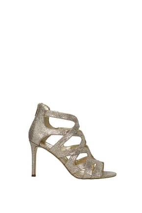 Michael Kors Sandals Women Glitter Gold