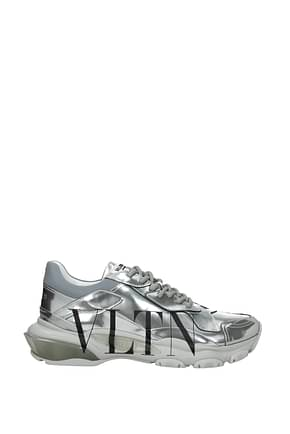 Valentino Garavani Sneakers Women Leather Silver