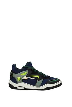 Lanvin Sneakers Herren Stoff Blau