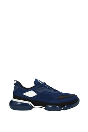 Prada Sneakers Men Fabric  Blue