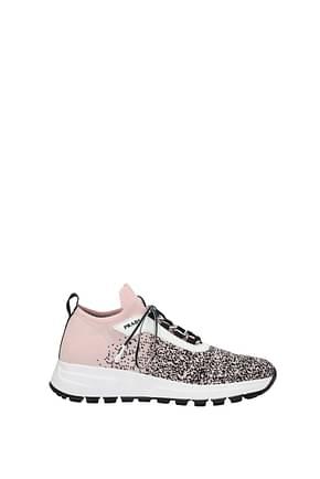 Prada Sneakers Women Fabric  Pink