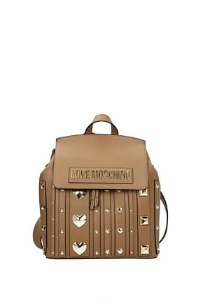 Love Moschino Backpacks and bumbags Women Polyurethane Brown