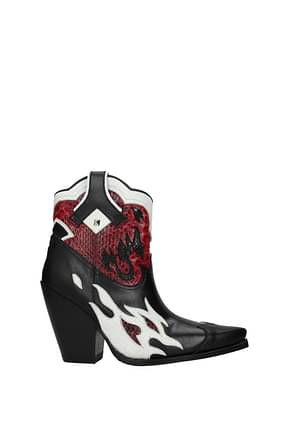 Valentino Garavani Ankle boots Women Leather Python Black