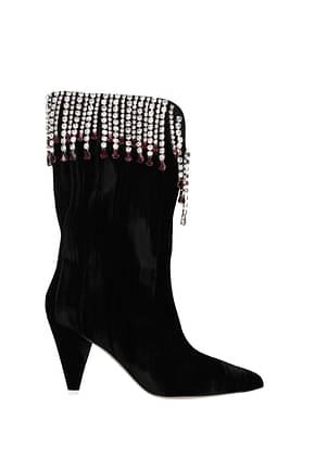 Attico Boots Women Velvet Black