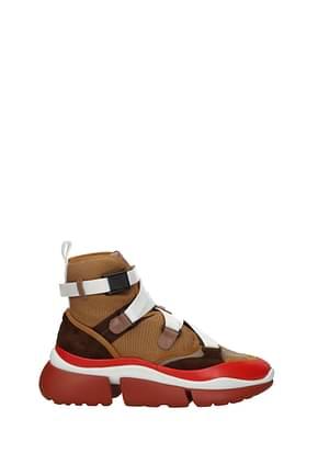 Chloé Sneakers Women Fabric  Brown