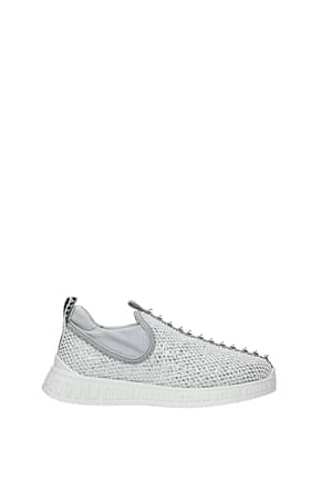 Miu Miu Sneakers Women Net Silver White