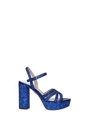 Miu Miu Sandals Women Sequins Blue