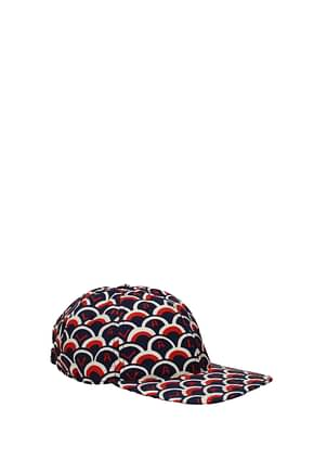 Valentino Garavani Hats Men Cotton Blue