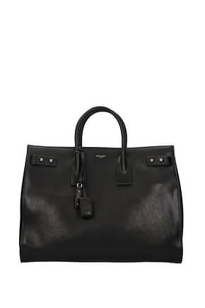 Saint Laurent Handbags Men Leather Black