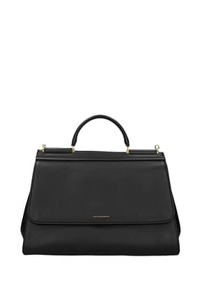 Dolce&Gabbana Handbags sicily soft large Women Leather Black