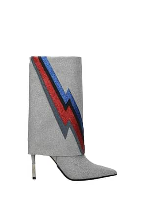 Balmain Ankle boots Women Glitter Silver