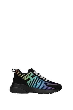 Hogan Sneakers active Women Suede Black Multicolor