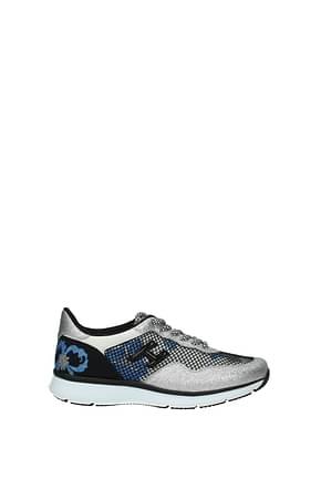 Hogan Sneakers Damen Glitter Silber Schwarz