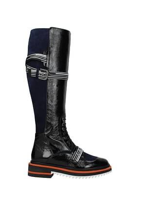 Lanvin Boots Women Patent Leather Black