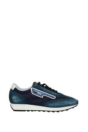 Prada Sneakers Men Fabric  Blue White