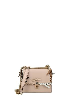 Fendi Shoulder bags Women Leather Pink