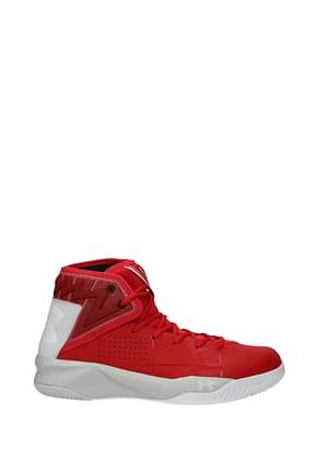 Under Armour Sneakers Herren Stoff Rot Grau