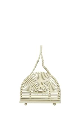 Cult Gaia Handbags cupola Women Bamboo Beige