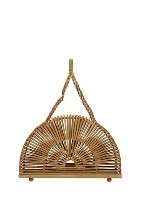 Cult Gaia Handbags cupola Women Bamboo Brown