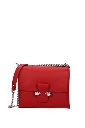 Alexander McQueen Crossbody Bag Women Leather Red