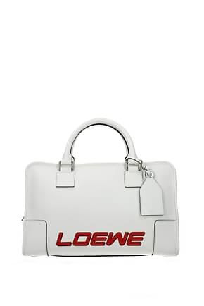 Loewe Handtaschen amazona Damen Leder Weiß