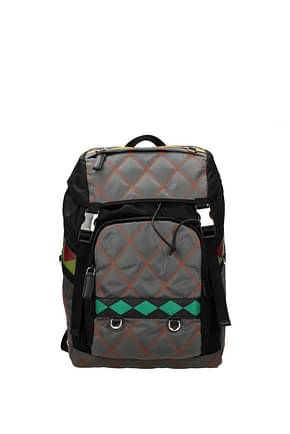 Prada Backpack and bumbags Men Fabric  Gray
