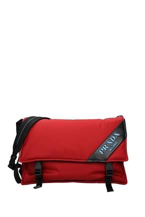 Prada Crossbody Bag Women Fabric  Red