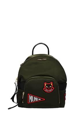 Miu Miu Backpacks and bumbags Women Fabric  Green