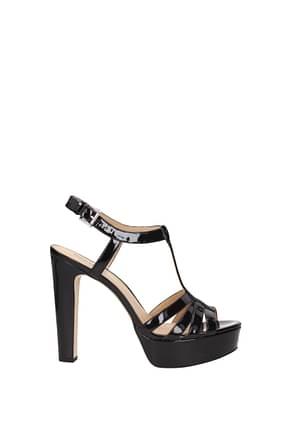 Michael Kors Sandals Women Patent Leather Black