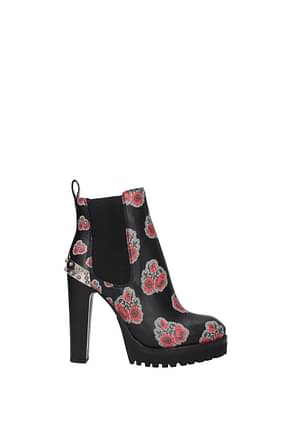 Alexander McQueen Ankle boots Women Leather Black