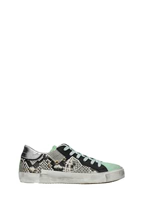 Philippe Model Sneakers prsx Men Leather Gray Teal