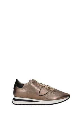 Philippe Model Sneakers trpx Women Leather Brown Bronze