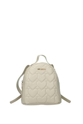 Love Moschino Backpacks and bumbags Women Polyurethane Beige Ivory