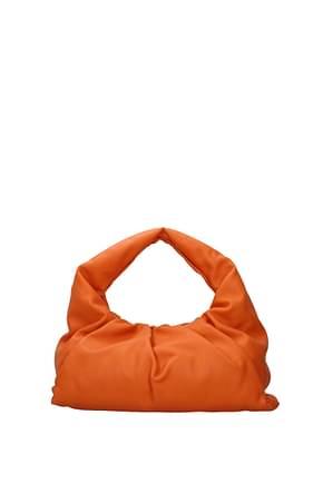 Bottega Veneta Handbags Women Leather Orange