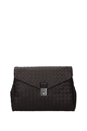 Bottega Veneta Work bags Men Leather Brown Dark Chocolate