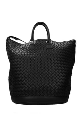 Bottega Veneta Travel Bags Men Leather Black