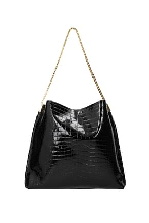 Saint Laurent Shoulder bags Women Patent Leather Black