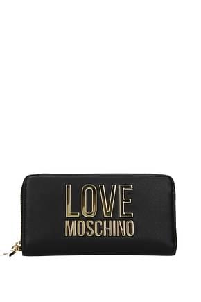 Love Moschino Portafogli Donna Poliuretano Nero
