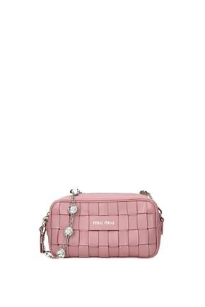 Miu Miu Shoulder bags Women Leather Pink Pink