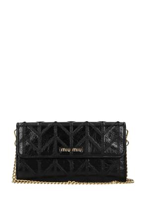 Miu Miu Wallets Women Leather Black