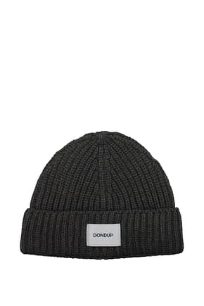 Dondup Hats Men Acrylic Gray