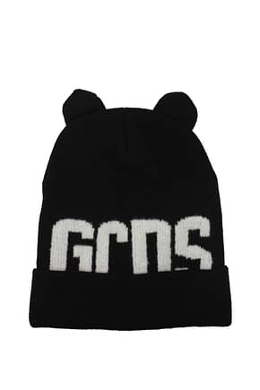 GCDS Hats Men Wool Black