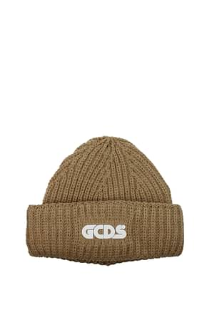 GCDS Hats Women Acrylic Brown