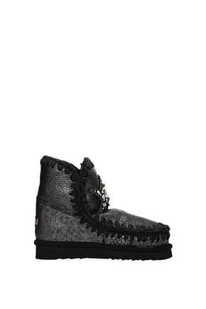 Mou Ankle boots eskimo 18 Women Leather Gray Silver