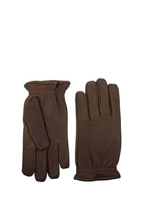 Orciani Gloves Men Leather Brown Chestnut