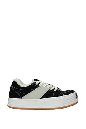 Palm Angels Sneakers Uomo Camoscio Nero
