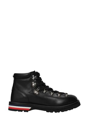Moncler Ankle Boot peak Men Leather Black
