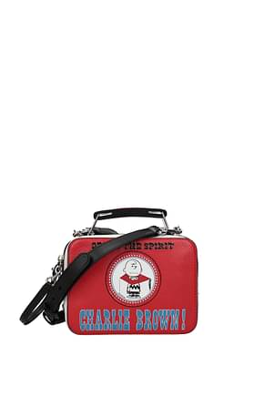 Marc Jacobs Handbags peanuts Women Leather Red