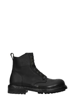 Dolce&Gabbana Ankle Boot Men Leather Black