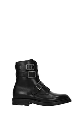 Saint Laurent Bottines Femme Cuir Noir